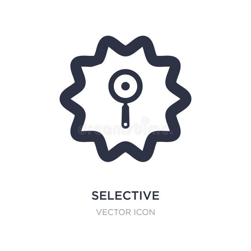 selectief pictogram op witte achtergrond Eenvoudige elementenillustratie van UI-concept royalty-vrije illustratie