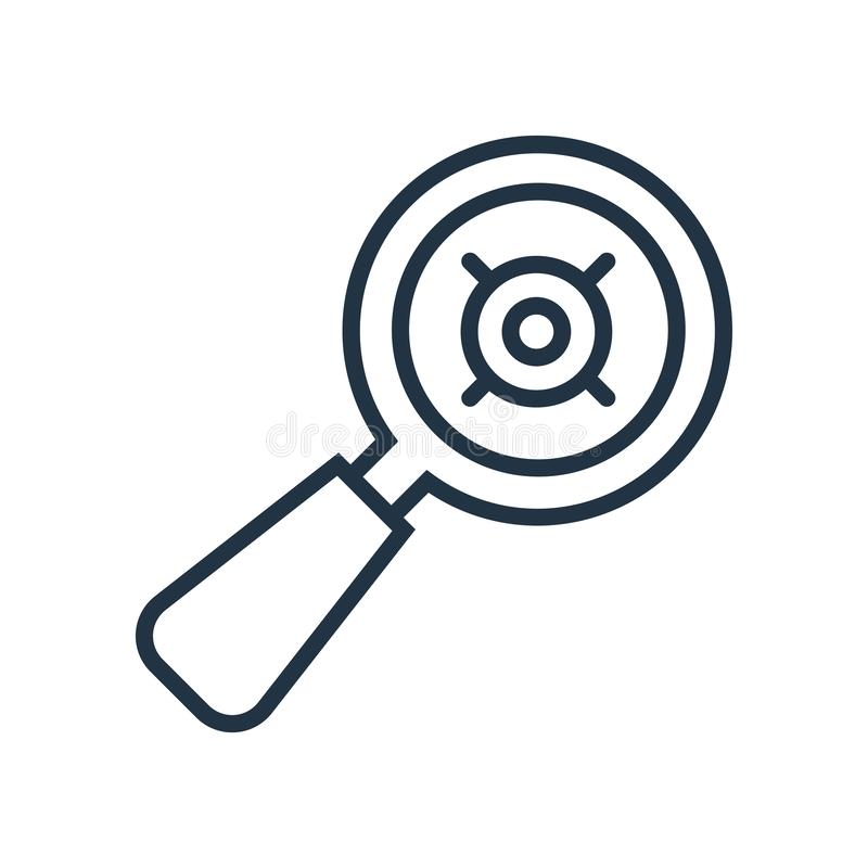Selectieve die pictogramvector op witte achtergrond, Selectief teken wordt geïsoleerd stock illustratie