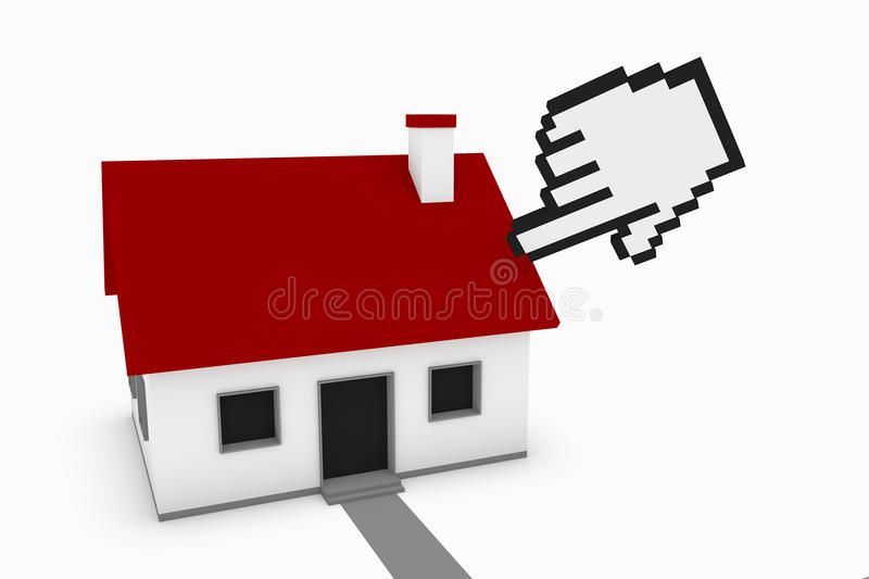 Selecting A House vector illustration