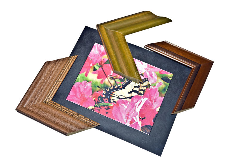 Selecting Picture Frames stock image