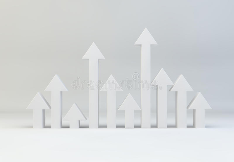 Download Selection Of Arrows Pointing Upwards For Growth Stock Illustration - Illustration of tall, metaphor: 39501599