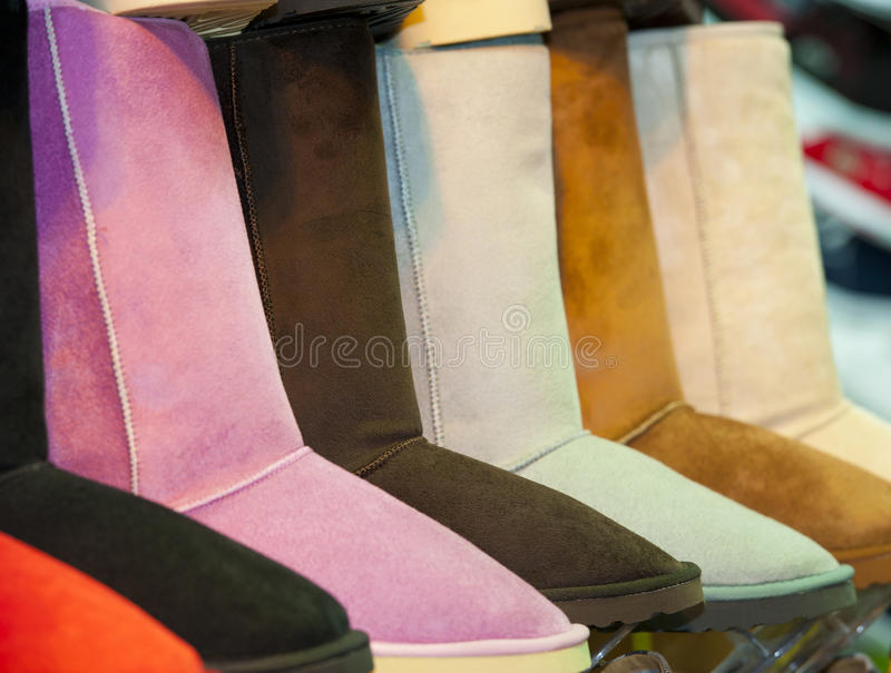 Download Selection Of Boots At A Shoe Stall Stock Photo - Image: 26452460