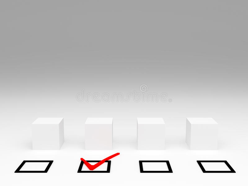Selection And Check Mark Royalty Free Stock Image