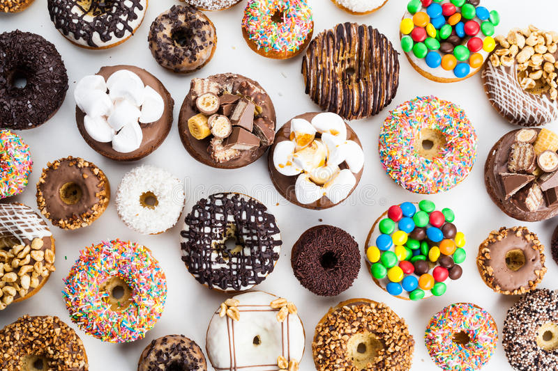 Selection of colorful donuts. royalty free stock images