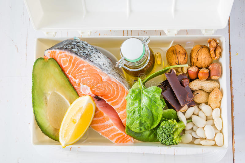 Selection of food that is best for your health stock images