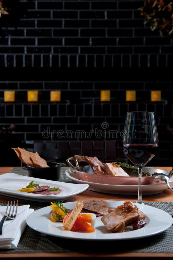 Download Selection Of Foods With Wine Stock Image - Image: 18163783