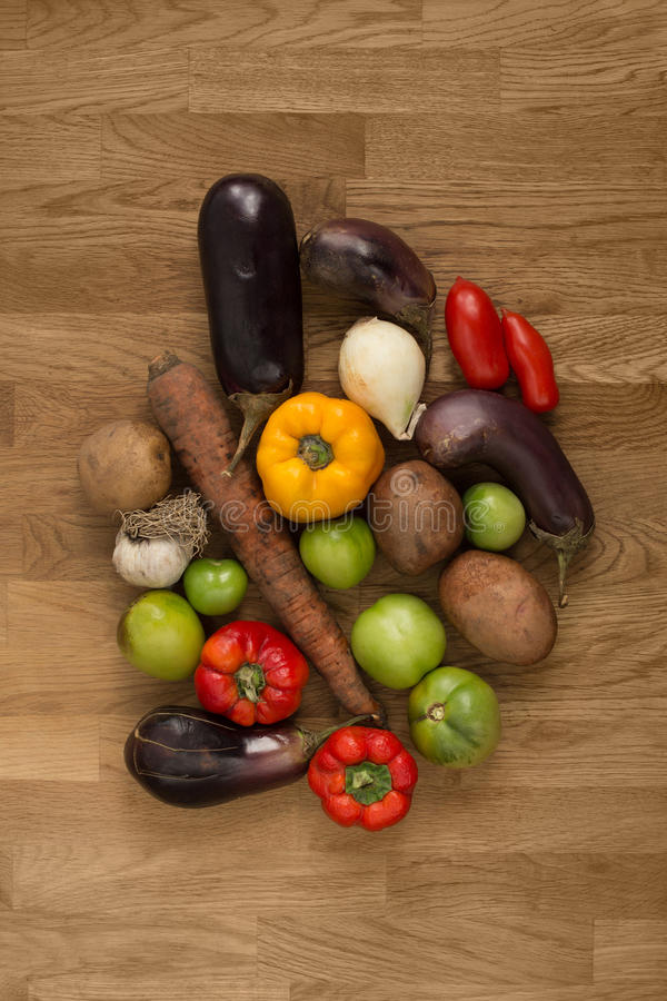 Selection of fresh vegetables for cooking royalty free stock photos