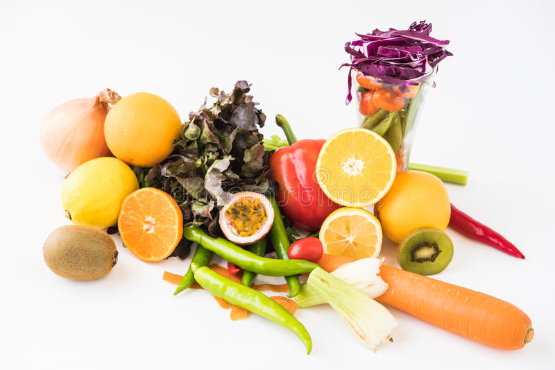 A selection of fresh vegetables for a heart healthy diet as recommended by doctors royalty free stock photography