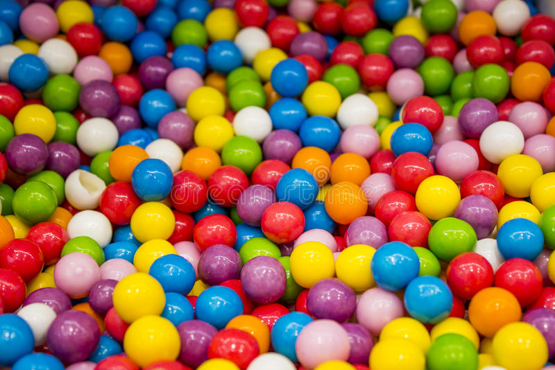 Selection of gumballs stock images