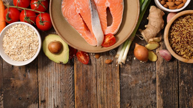 Selection of health food royalty free stock photography