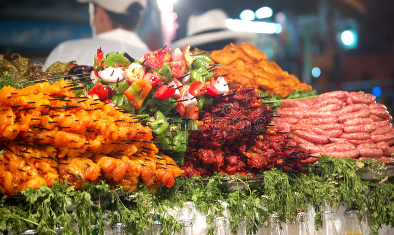 Download Selection of meat stock image. Image of morocco, cooking - 3365021
