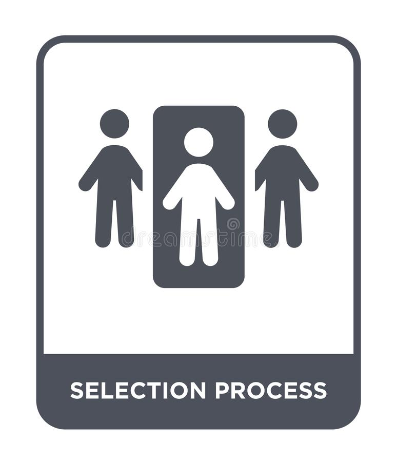selection process icon in trendy design style. selection process icon isolated on white background. selection process vector icon stock illustration