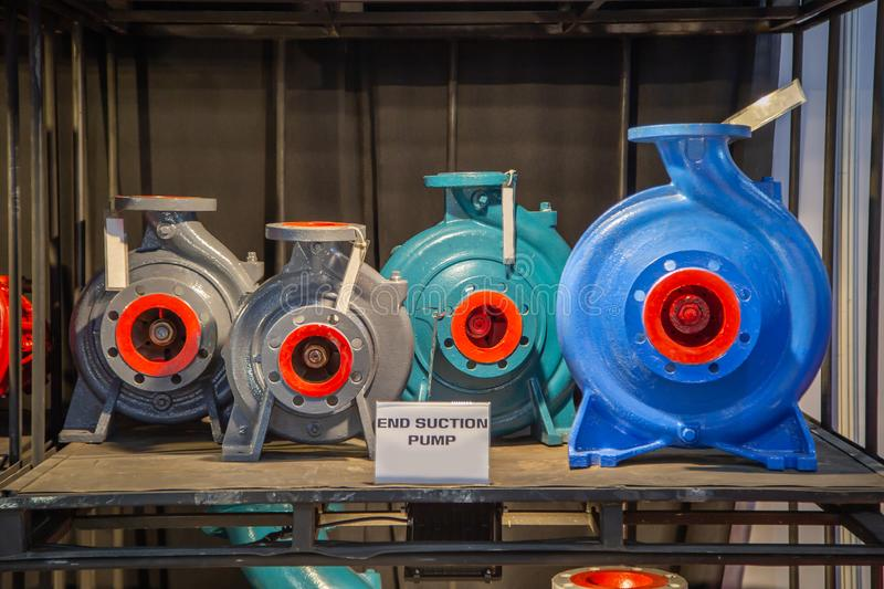 End Suction Centrifugal Pump. Selection size of end suction centrifugal pump stock image