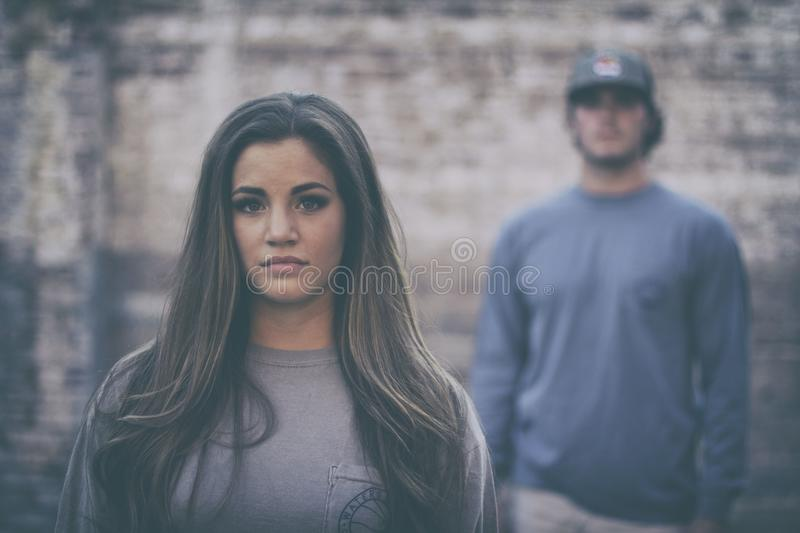 Selective Blur On Woman Wearing Grey Shirt Free Public Domain Cc0 Image