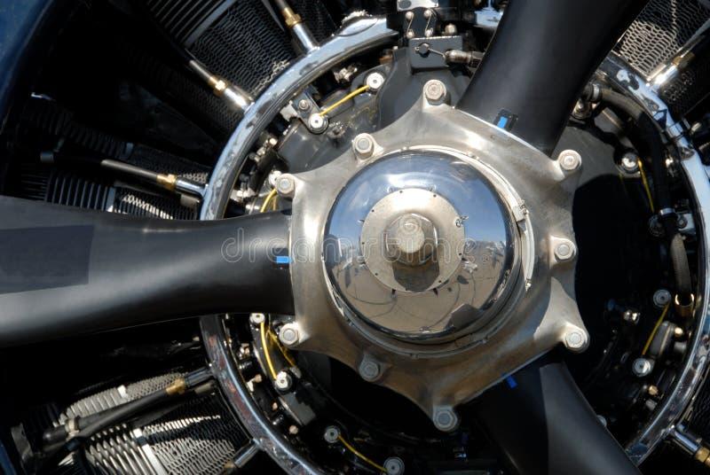 Selective Closeup of Radial Aircraft Engine. Selective closup of radial aircraft engine from World War II stock image