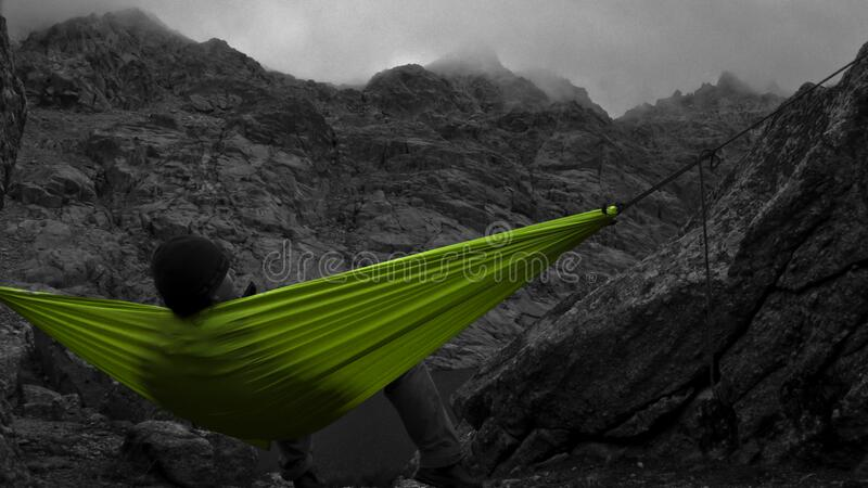 Selective Color Of Green Canvas Hammock Free Public Domain Cc0 Image