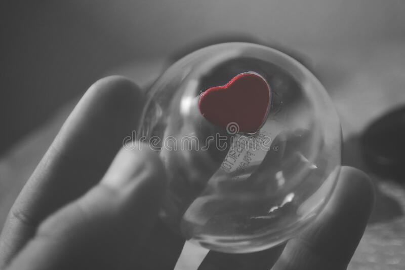Selective Color Of Red Heart Ball Photography Free Public Domain Cc0 Image
