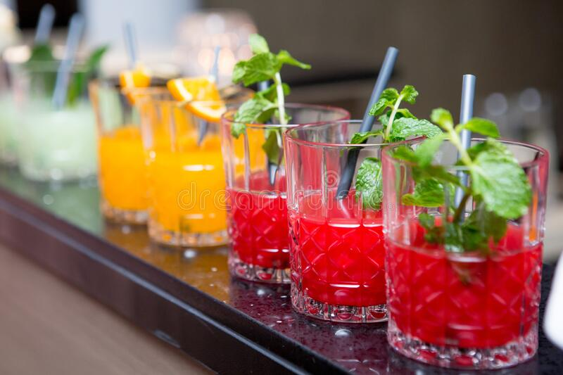 Fruit Juice Cocktail Stock Image. Image Of Pink, Party