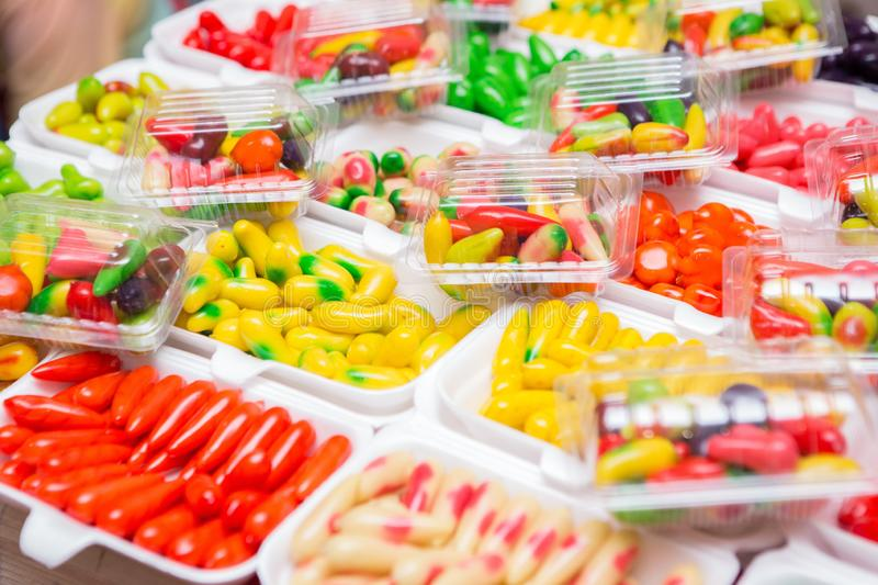 Selective focus of  Colorful Thai dessert royalty free stock images