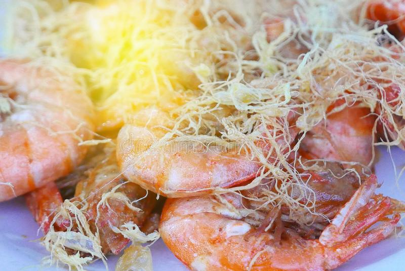 Selective focus of fried prawn. royalty free stock image
