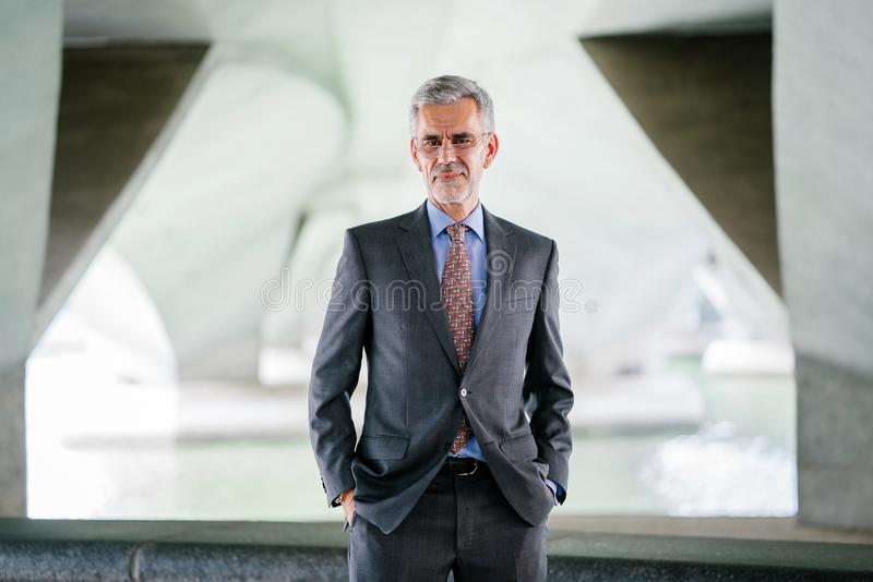 Selective Focus Photograph of Man Wearing Gray Suit Jacket stock photography