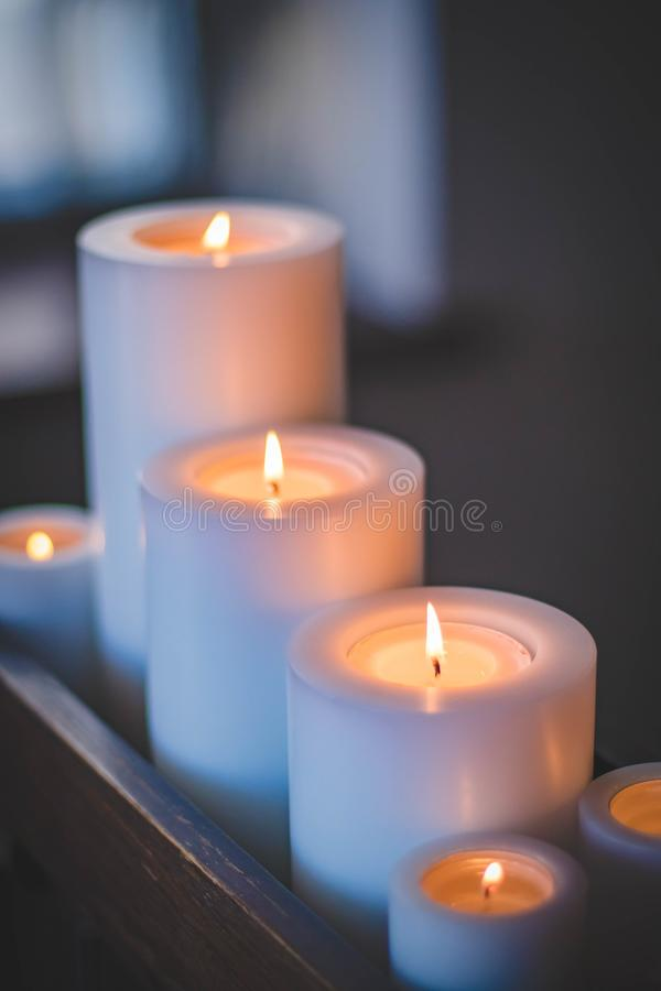 Selective Focus Photography of Candles stock photo
