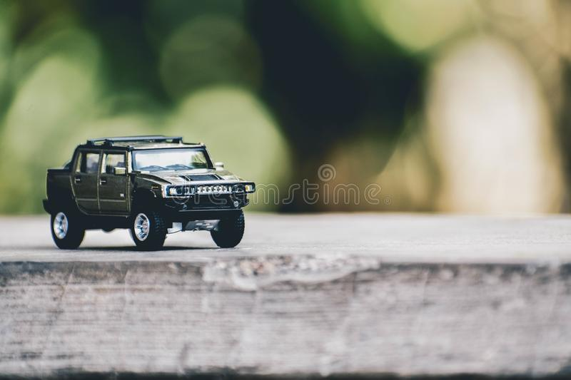 Selective Focus Photography Of Gray Hummer Truck Miniature Free Public Domain Cc0 Image