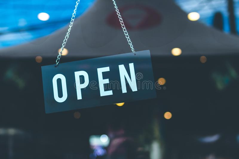 Selective Focus Photography of Open Signage stock image
