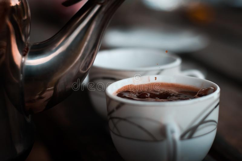 Selective Focus Photography of Teacup With Coffee royalty free stock photos