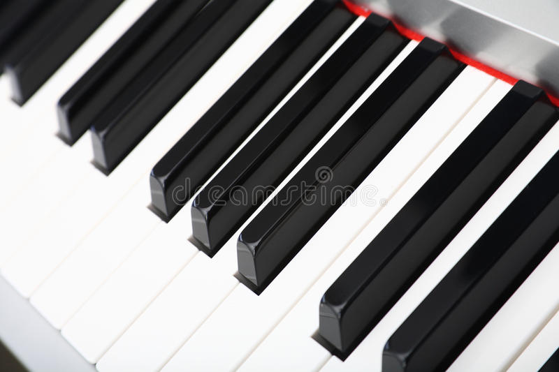 Download Selective Focus Of A Piano Keyboard Closeup Stock Photo - Image: 30475302