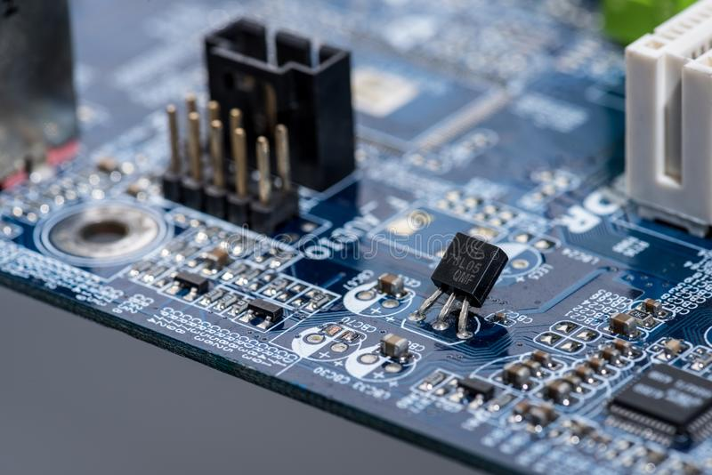 Various Details Of Computer Motherboard Stock Photo - Image