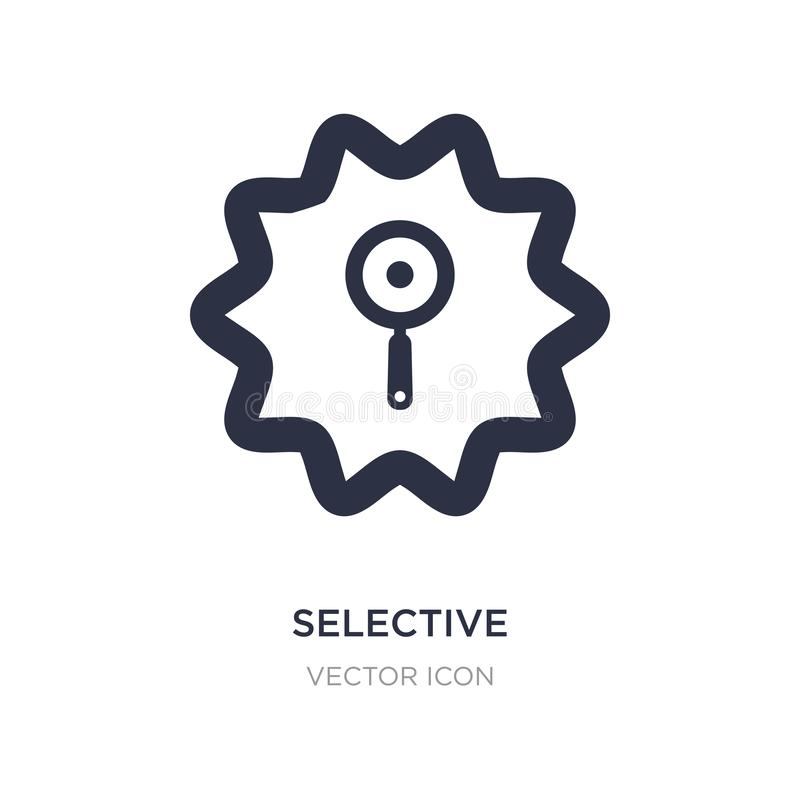 Selective icon on white background. Simple element illustration from UI concept. Selective sign icon symbol design royalty free illustration