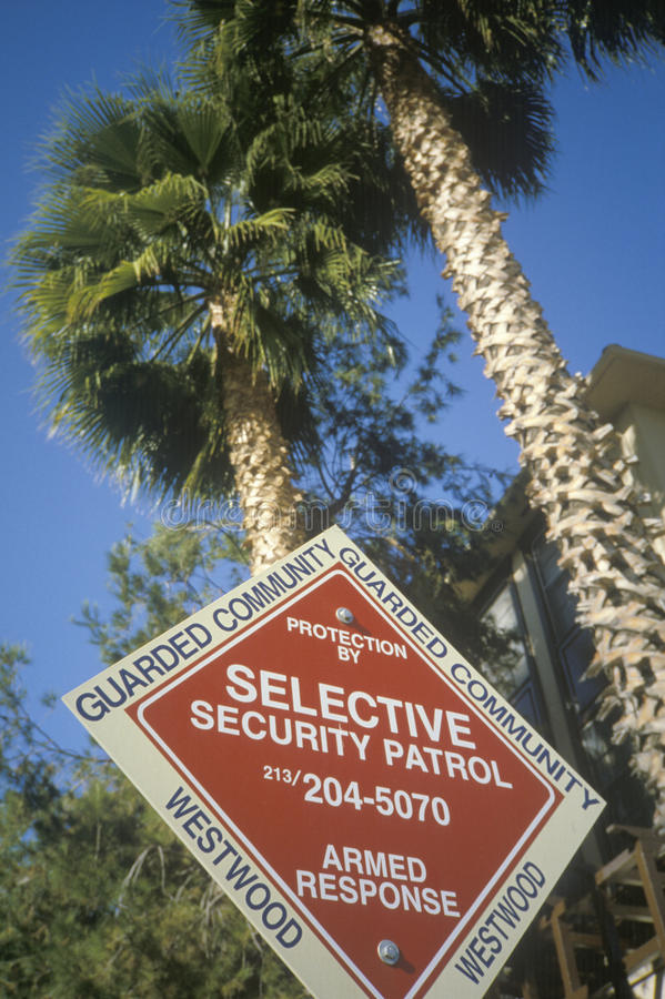 Download Selective Security Patrol  Sign Editorial Image - Image: 26285370