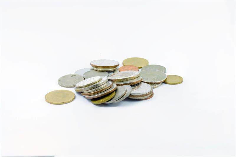 Selektiv fokus av mynt Thailand royaltyfria foton