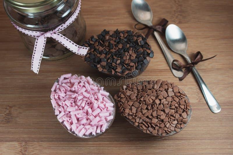 selektiv fokus för chokladeaster ägg royaltyfri fotografi