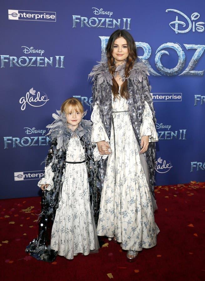 Selena Gomez and Gracie Teefey stock images