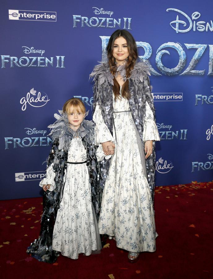 Selena Gomez and Gracie Teefey royalty free stock images