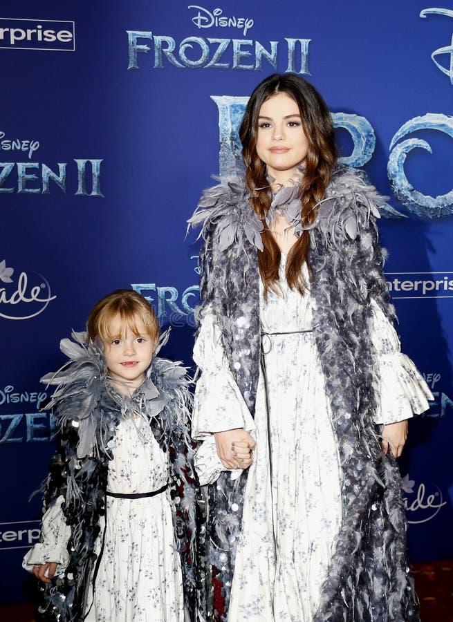 Selena Gomez and Gracie Teefey stock photos