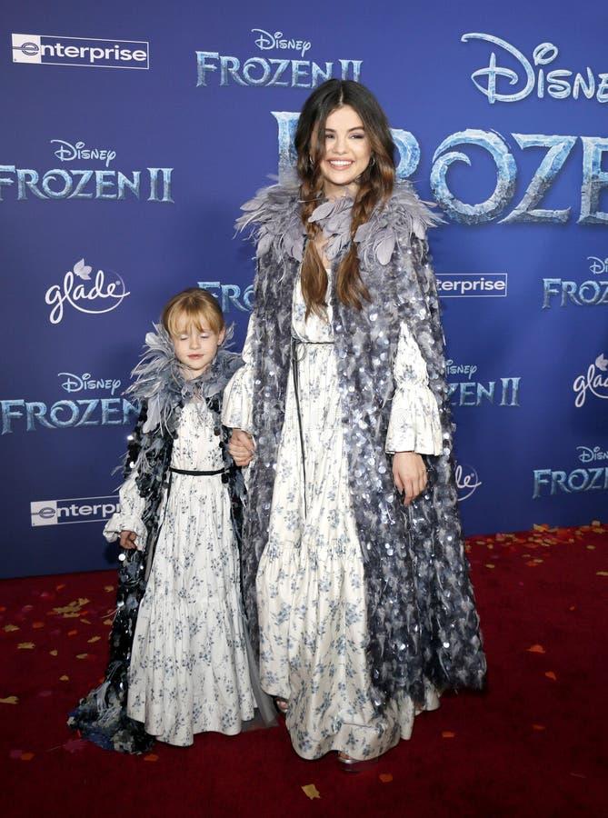 Selena Gomez and Gracie Teefey stock photo