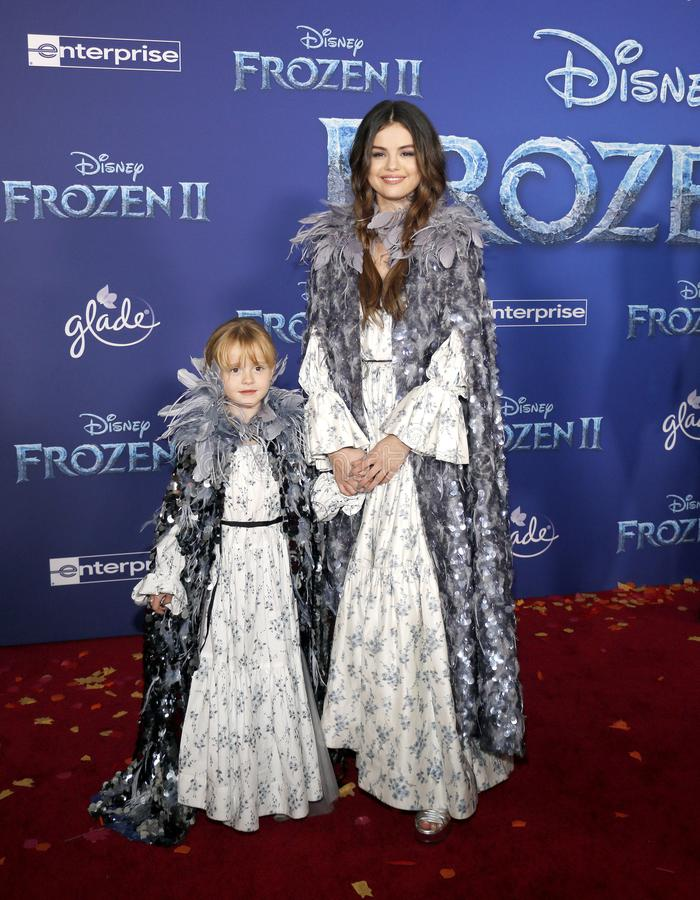 Selena Gomez and Gracie Teefey royalty free stock photos