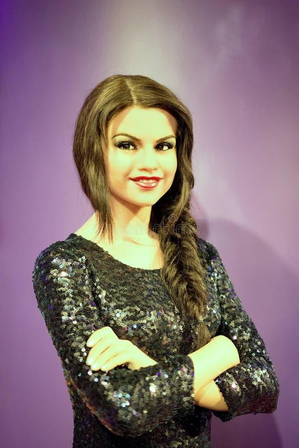 Selena Gomez Wax Figure imágenes de archivo libres de regalías