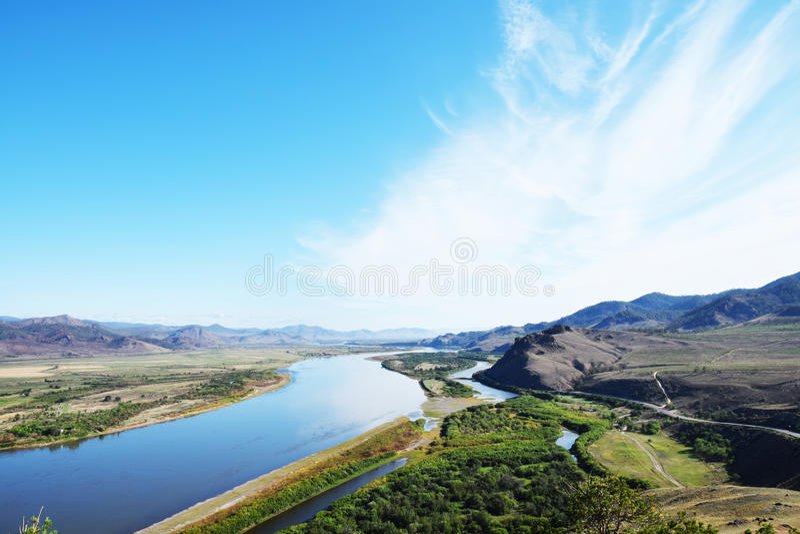 Selenga rzeka obrazy stock