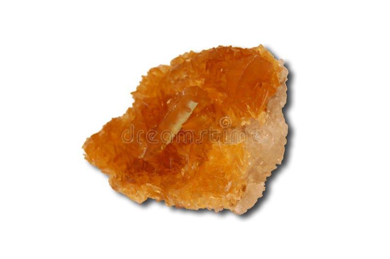 Selenite specimen. Selenite mineral specimen isolated on white background royalty free stock photography