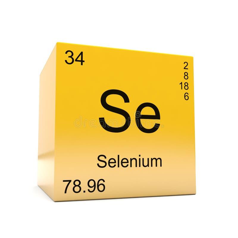 Selenium Chemical Element Symbol From Periodic Table Stock
