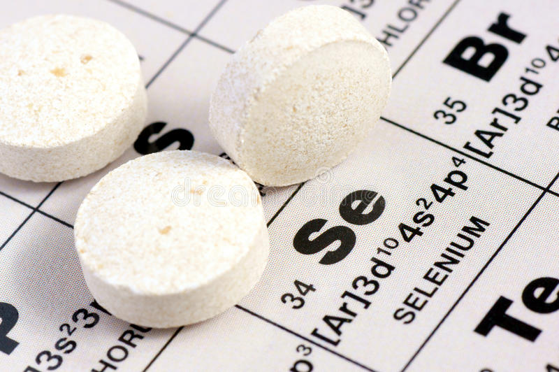 Selenium i tablets. arkivfoton