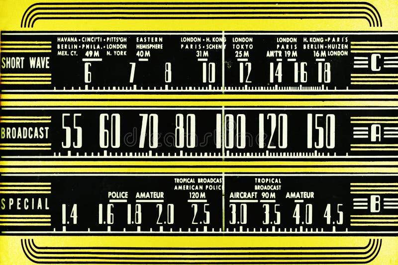 Seletor de rádio do vintage fotografia de stock