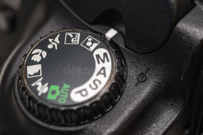 Seletor do modo da câmera imagens de stock