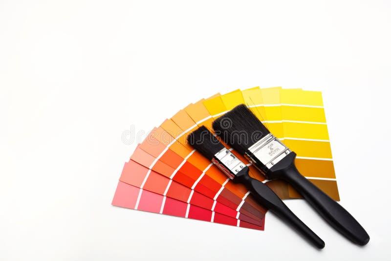 Seletores vermelhos e amarelos da cor imagem de stock royalty free
