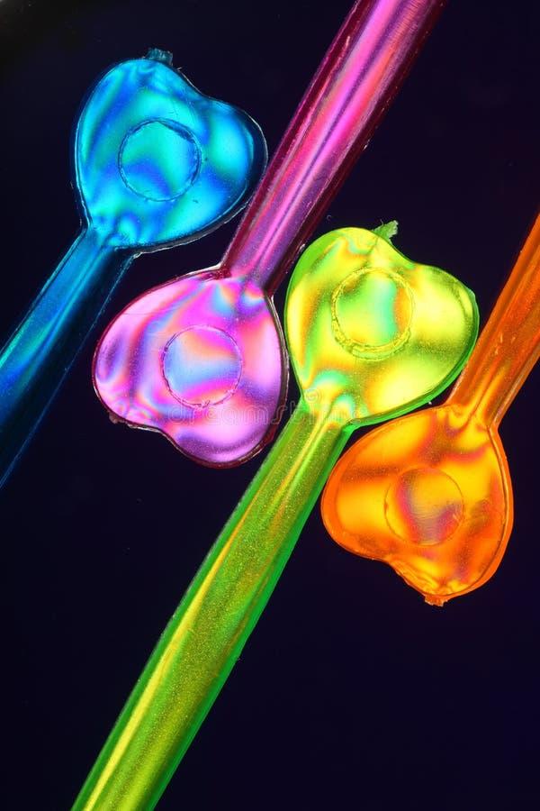 Selezionamenti Colourful del partito   fotografia stock