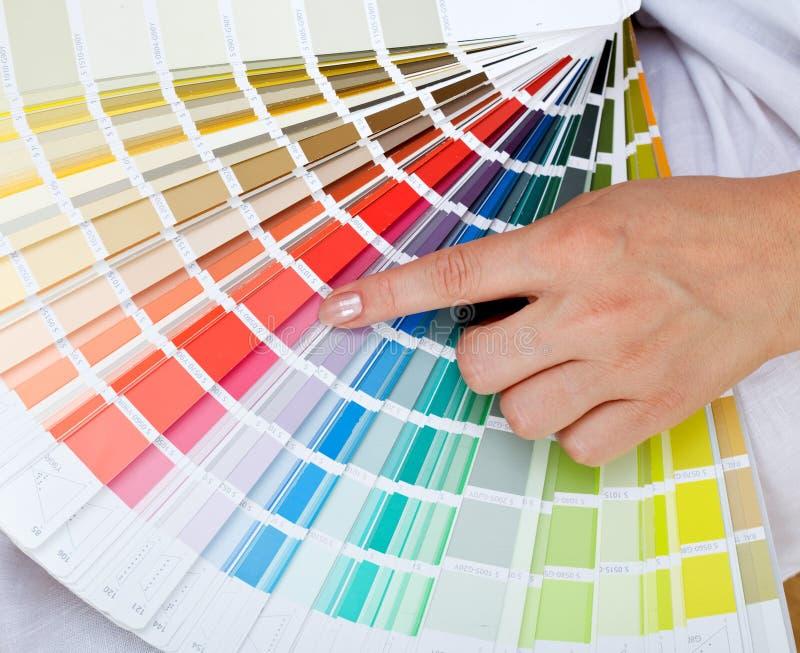 Selezionamento del colore giusto fotografia stock